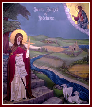 a biography of saint brigid Brigid of kildare, a popular irish saint, goes by many names: saint brigid of   said to have been born on a threshold and bathed with milk, brigid went forth at a .